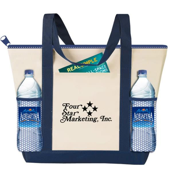 Travelstar Zippered Nautical Tote