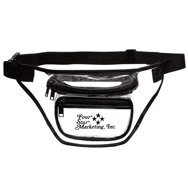 3-Zipper Transparent Fanny Pack