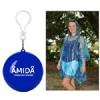 "Poncho Ball Key Chain for Personal Safety - Offers an added function as ""personal protective gear."" PE Poncho In Convenient Carrying Ball 
