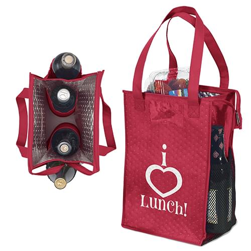 Deluxe Lunch Tote w/ Zipper Closure