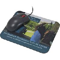 Antimicrobial Mouse Pad - The antimicrobial preservative incorporated into the surface of this mouse pad suppresses the growth of bacteria, fungi and house dust mites to keep your desk area cleaner. The protected polyester material withstands daily wear and tear while displaying brand messages in vivid 4-color process imprint.