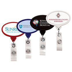 Anti-Microbial Jumbo Oval Badge Reel