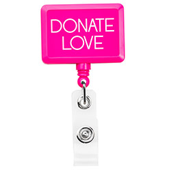Hot Pink Jumbo Rectangle Badge Reel