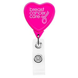 Hot Pink Heart Badge Reel