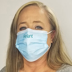 Custom Printed 3-Ply Face Mask - Disposable non-woven face masks imprinted with your logo feature 95% bacterial filtration efficiency. Must order in increments of 50.