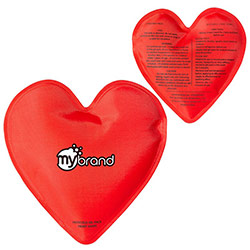 Heart Shaped Nylon Covered Hot/Cold Gel Pack