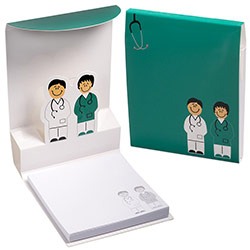 Doctor and Nurse 3-D Sticky Notes Pad