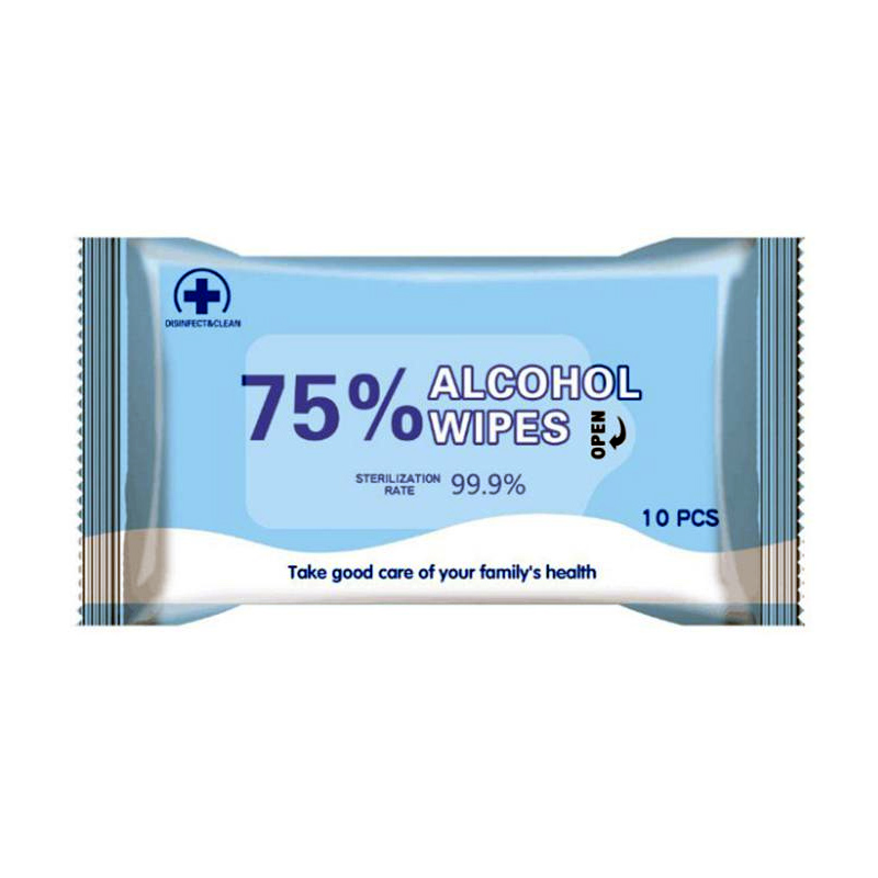 Alcohol Wipes - 10 Pack - Order this alcohol sanitizing wipes, saturated with 75% alcohol so that it can be anti-virus and anti bacterial. It can be used for skin, around the wound, disinfection before injection; keyboard, phone, office supplies, children's toys, etc. to keep them clean and disinfected. This is handy, small, easy to carry,  for outdoor, travel, camping etc. 10pcs in one bag.