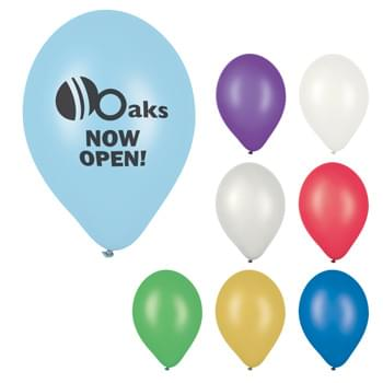 "9"" Metallic Balloon - Made of Natural Latex Rubber   