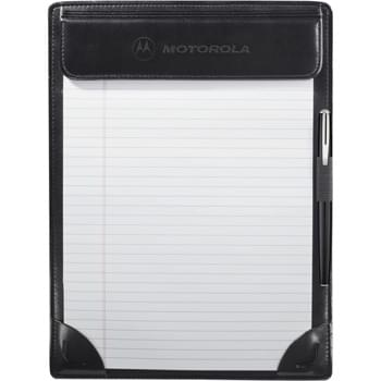 "Windsor Reflections Clipboard - Back pocket for documents. Elastic pen loop. Includes 8.5"" x 11"" writing pad."