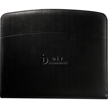 "Windsor Reflections Zippered Padfolio - Zippered closure.  Interior organizer includes file dividers, elastic pen loops, business card pocket and removable matching 3"" x 4"" jotter. Includes 8.5"" x 11"" writing pad."