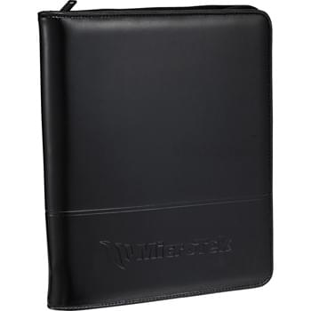 "Windsor eTech Writing Pad - Combine traditional styling with the functionality needed for today's technology.  Zippered Closure.  Versatile tablet station accommodates all iPad models, including iPad Air, as well as Kindle and Kindle Fire.  Pen loop.  Includes 5"" x 8"" writing pad."