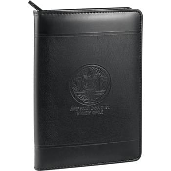 "Windsor Impressions Jr. Zippered Padfolio - Zippered closure. Elastic pen loop. Documents pocket. Business card holder. Includes 5"" x 8"" writing pad"