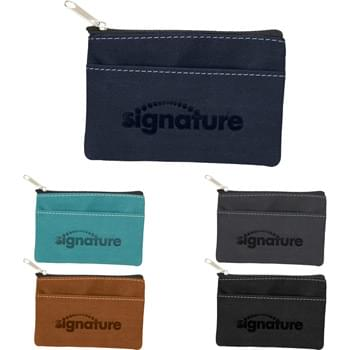 Revello Pouch - Carry your valuables in style with the Revello Collection Pouch. The front slash pocket easily fits your ID and credit cards or 20+ standard business cards. The main compartment is perfect for cash, key or other small valuables.
