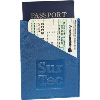 Modena Slim RFID Passport Wallet - Premium, textured UltraHyde material. Specifically designed to hold a passport, 4 credit cards and a boarding pass/ticket. RFID protection.