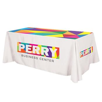 "Flat All Over Dye Sub Table Cover - 3-sided, fits 8' table - Made Of 100% Premium Quality Polyester (5 Oz. /Sq. Yard) | Fits Table Size: 96"" W x 29"" H x 30"" D 