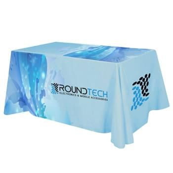 "Flat All Over Dye Sub Table Cover - 4-sided, fits 6' table - Made Of 100% Premium Quality Polyester (5 Oz. /Sq. Yard) | Fits Table Size: 72"" W x 29"" H x 30"" D 