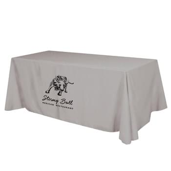 "Flat Polyester 3-sided Table Cover - fits 8' standard table - Made Of 100% Premium Quality Polyester (5 Oz. /Sq. Yard) | Fits Table Size: 96"" W x 29"" H x 30"" D 