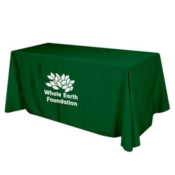 "Flat Polyester 4-sided Table Cover - fits 6' standard table - Made Of 100% Premium Quality Polyester (5 Oz. /Sq. Yard) | Fits Table Size: 72"" W x 29"" H x 30"" D 