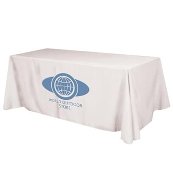 "Flat 4-sided Table Cover - fits 8' standard table (100% Polyester) - Made Of 100% Premium Quality Polyester (5 Oz. /Sq. Yard) | Fits Table Size: 96"" W x 29"" H x 30"" D 