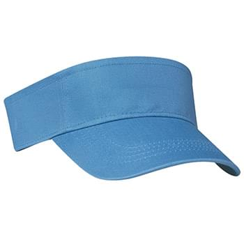 Cotton Twill Visor - 100% Cotton Twill | Double Layer Cotton Twill Sweatband | Pro-Stitching On Front Pre-Curved Visor | Adjustable Self-Material Strap With Velcro® Closure