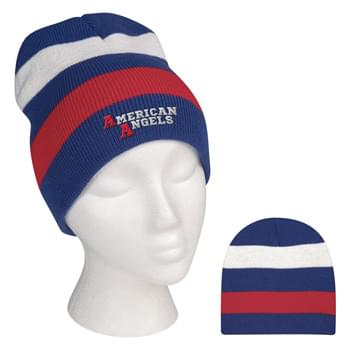 Patriotic Knit Beanie - 100% Acrylic | One Size Fits All