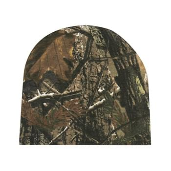 Realtree ™ And Mossy Oak ® Camouflage Beanie - Outer: 100% Cotton. Lining: 100% Acrylic | One Size Fits All | Comes In 2 Great Camouflage Patterns