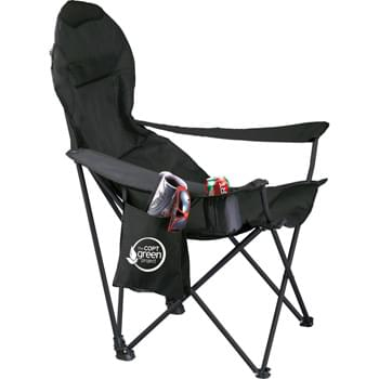 Deluxe Folding Lounge Chair - Camp in ultimate luxury with this deluxe chair. Features a padded seat and chairback giving you extreme comfort with a built-in mesh head rest for ventilation. Includes cupholder and detachable valuables pocket. Carrying case included.