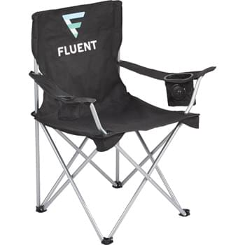 Game Day Speaker Chair - This folding chair with integrated speaker has got to be the best summer gadget! Ideal for spending the day on the sidelines or by the grill. Simply connect the speaker with a smartphone or MP3 with the included 3.5mm audio cable, place the media device into the tech holder, then sit back and relax while listening to your music. The chair also features a mesh cup holder. Includes: carry case, integrated speaker, two AAA batteries. Loading weight limit: 300lbs.  Available for one-day turn with Sureship®.