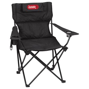 Premium Reclining Chair - This Premium Reclining Sports Chair provides the durability you need with a steel frame that can hold up to 400lbs, and the added comfort of a padded design with three (3) adjustable reclining positions and a removable pillow. Includes a mesh cup holder,
