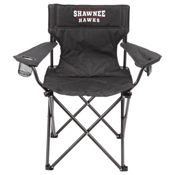 Premium Chair - With an extra sturdy steel frame and durable 600D fabric this chair has a loading weight limit of 300lbs. Features a zippered tech pocket and mesh cup holder. Comfortable padded construction throughout the chair. Includes a study 600D carrying bag.  Inven