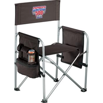 Game Day Director's Chair - Our Game Day Director's Chair folds flat for easy storage, and its sturdy steel frame and 600d polyester allow for a more upright seating position. This chair is great for any occasion, from the sidelines to the front porch.