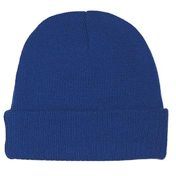 Knit Beanie With Cuff - 100% Acrylic | One Size Fits All | Comes In 5 Great Colors