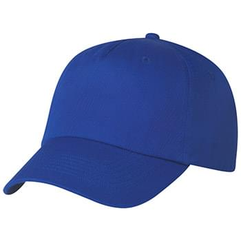 5 Panel Polyester Cap - 100% Polyester | 5 Panel, Medium Profile | Unstructured Crown & Pre-Curved Visor | Adjustable Self-Material Strap With Velcro® Closure