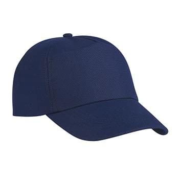 Budget Saver Non-Woven Cap - Made Of 80 Gram Non-Woven, Coated Water-Resistant Polypropylene | 5 Panel, Medium Profile | Structured Crown & Pre-Curved Visor | Adjustable Self-Material Strap With Velcro® Closure