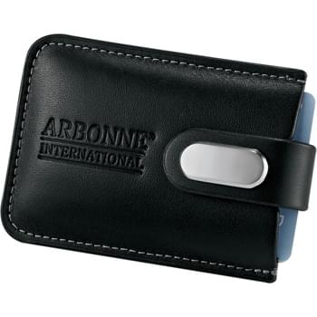 Executive Business Card Case - Holds up to 20 business cards. Snap closure.