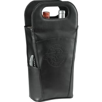 Belgio Insulated Double Wine Tote - Exclusive  design. Fully insulated tote keeps two bottles cold. Side pocket includes stainless steel waiter corkscrew. Deep front pocket designed for additional storage.