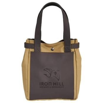 Bullware Wine/Growler Tote - Grabbing booze by the horns. Double wine bottle or single growler storage. Includes Ultrahyde front pocket. Snap closure. Hop on the Bull. Craft up the night. Live Classy.