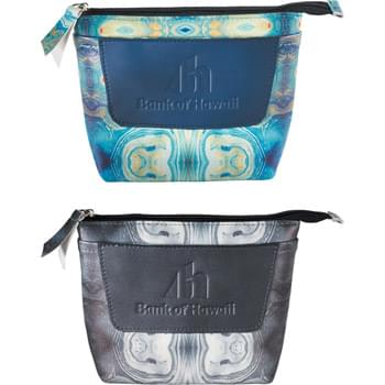 Mea Huna Psychedelic Organizer Pouch - The Mea Huna Collection was inspired by the Hawaiian heritage of secrecy, preservation and hospitality. Interior features dual secret storage compartments. Removable clear vinyl pouch. Mesh pocket. Mea Huna, inspired by legend.