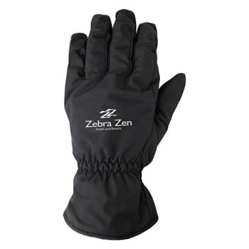 Insulated Water-Resistant Adult Gloves - Gloves Are Made Of 100% Polyester With Goose Down Lining | Use Your Touch Screen Devices Without Having To Remove Your Gloves! | Includes 2 Touch Fingers (Thumb And Index Finger) | Textured Palm Grip | Elastic Wrist | Reflective Stripe Accent | One Size Fits Most