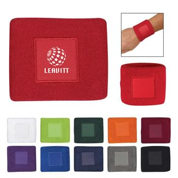 Wristband With Patch - 100% Cotton Terry Cloth | Available in 11 Popular Colors!