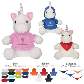 "6"" Mystic Unicorn - 14 Popular Shirt Colors 