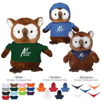 "6"" Hoot Owl - 14 Popular Shirt Colors 