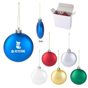 Ornament - Made Of Polypropylene | Shatter-Resistant | Includes String For Hanging | Great For Holiday Giveaways