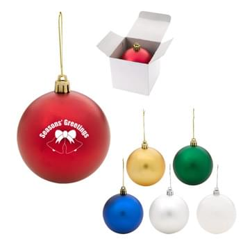 Round Ornament - Made Of Polypropylene | Shatter-Resistant | Includes String For Hanging | Great For Holiday Giveaways