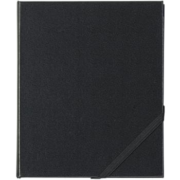 Office Buddy Book - Memo Pad And Sticky Note Pad | Sticky Flags In 4 Neon Colors | Hard Cover With Strap Closure