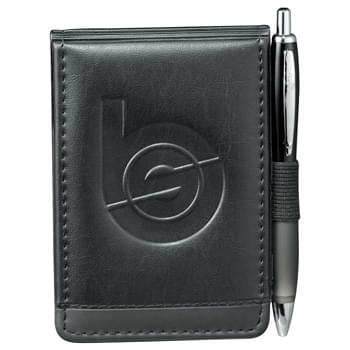 "Scripto® Jotter Bundle Set - Set includes Scripto® Jotter (#6001-66) with Scripto®  Score Click (#6001-11) in coordinating colors.  Business card holder and pen loop.  Includes 3"" x 4.75"" Scripto® writing pad."