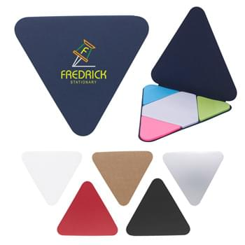 Triangle Shape Sticky Notes Pad - Sticky Notes In White And 3 Neon Colors