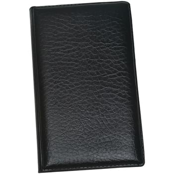 Leather Look Padfolio With Sticky Notes & Flags - Sticky Notes In Various Colors And Shapes | Sticky Flags In 5 Neon Colors