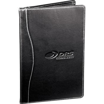"Hampton Jr. Writing Pad - Documents pocket. Double pen loop lock closure. Business card holder. Includes 5"" x 8"" writing pad."